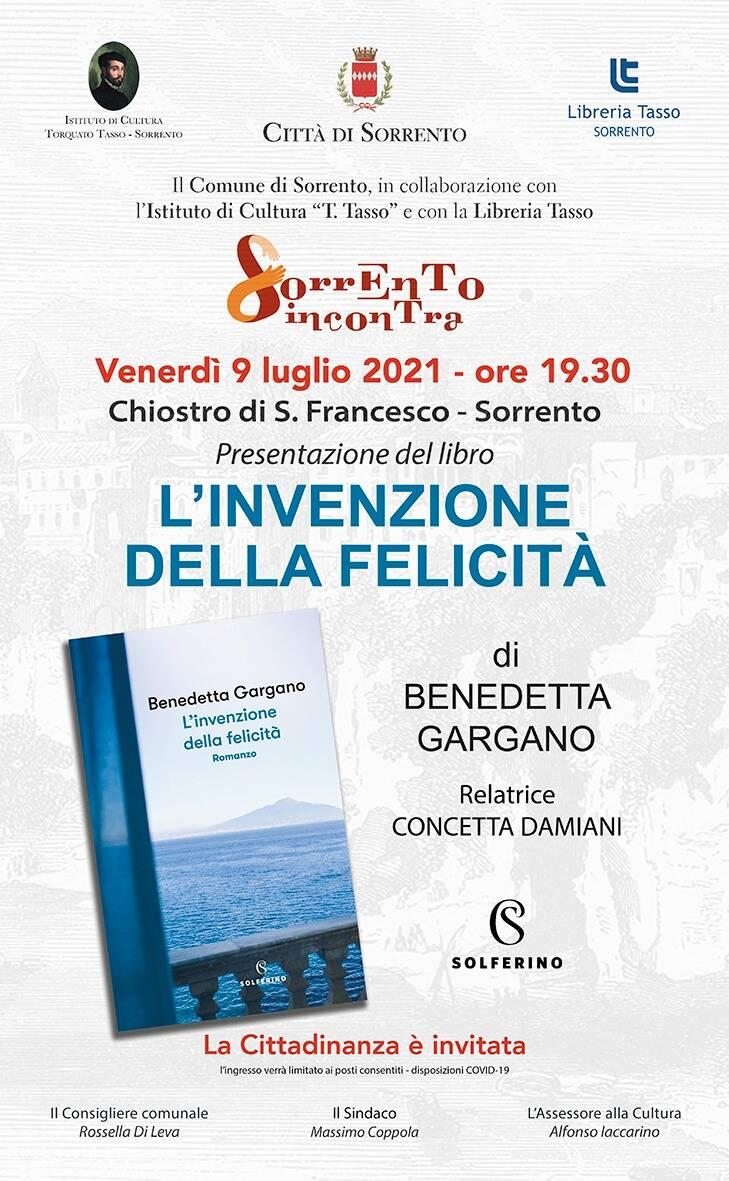 Libri. Benedetta Gargano ospite a Sorrento Incontra
