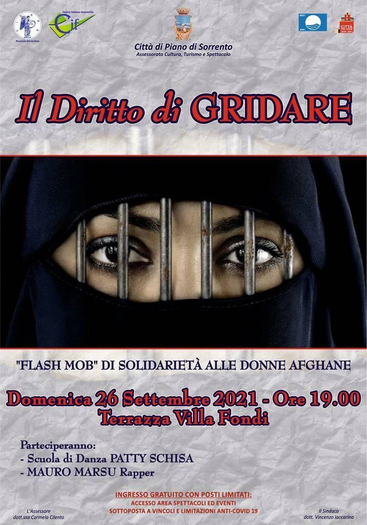 Flash Mob di solidarietà alle donne afghane domenica 26 settembre a Villa Fondi