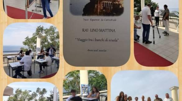 """Rai 1 a Vico Equense per """"Uno Mattina"""", protagonisti i ragazzi dell'Alberghiero"""