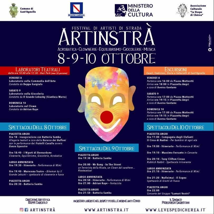 Sant'Agnello, dall'8 al 10 ottobre arriva il Festival del teatro di strada
