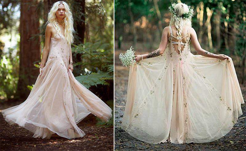 Resultado de imagem para Vestido casamento boho