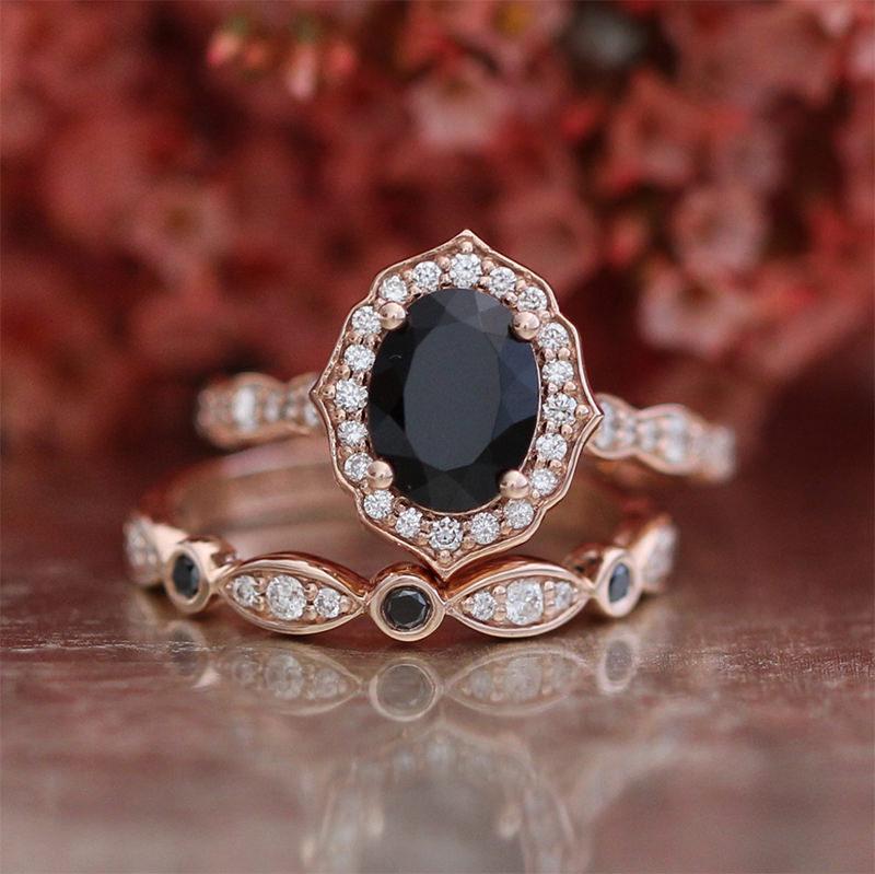 20 Anis De Noivado Com Diamante Escuro Para As Noivas Com