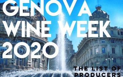 Genova Wine Week 2020: le liste dei produttori presenti a VinNatur Genova e al Genova Wine Festival