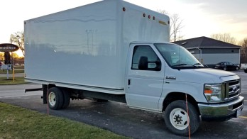 Ford E-450 box truck gets Factory E Series cruise control and rear camera
