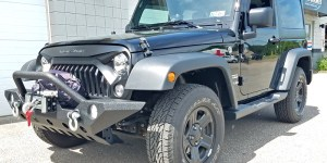 Camera installed on Wrangler