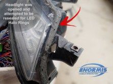 Acura TL Headlight Was Previously Modified