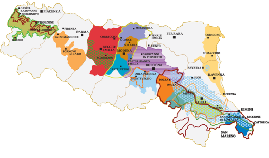Wines map