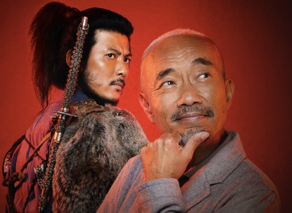 A portrait of the two main characters in Samurai Gourmet. Takeshi now has the perfect retirement.