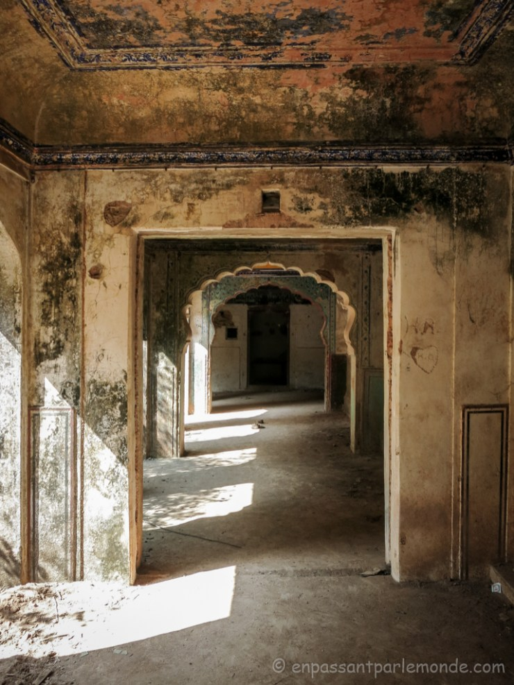 Bundi, petit palais à l'abandon dans le fort