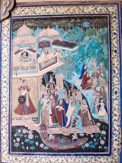 Bundi, fresque Garth Palace
