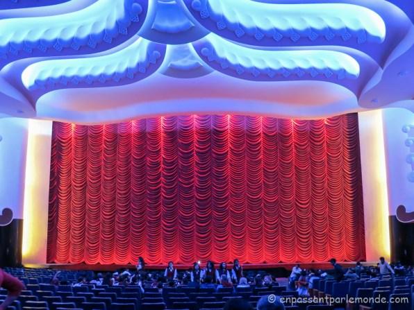 Intérieur de la salle de ciné