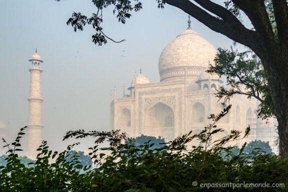 Taj Mahal depuis les jardins