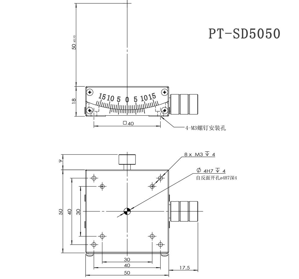PT-SD4025 Manual Goniometer Stage Manufacturers