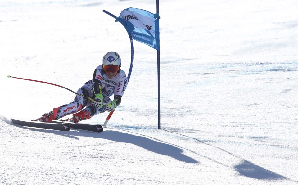 LA THUILE,ITALY,21.FEB.16 - ALPINE SKIING - FIS World Cup, Super G, ladies. Image shows Tina Weirather (LIE). Photo: GEPA pictures/ Andreas Pranter