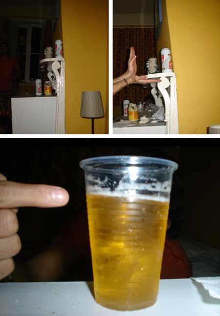 Suerte que siempre llevamos cerveza para hacer comprobaciones.