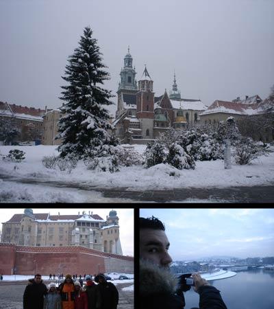 La colina y desde la colina Wawel. La primera me quedó de postal, eh…
