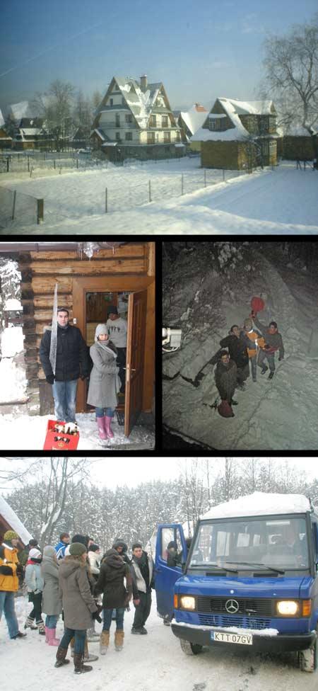 Un pueblo que vive por, para y pese la nieve.
