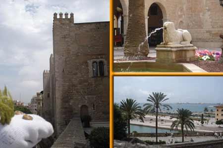 Una de las torres, el patio interior y las magníficas visas desde el Palacio.