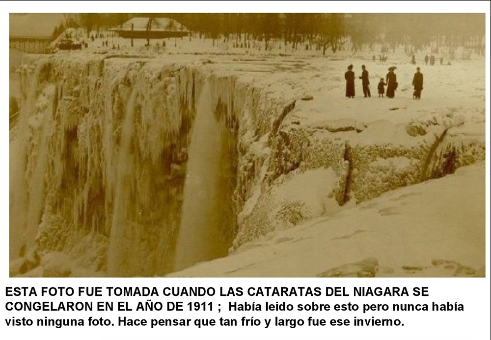 cataratas del niágara congeladas en 1911