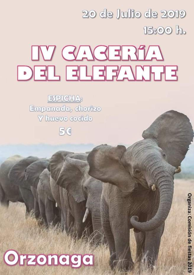 caceria del elefante de orzonaga