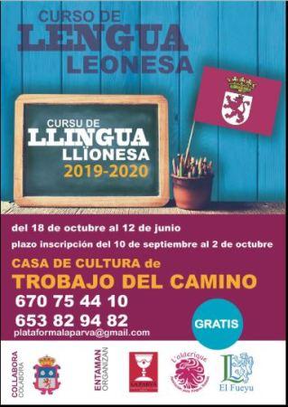 Cartel curso leonés 2019-2020