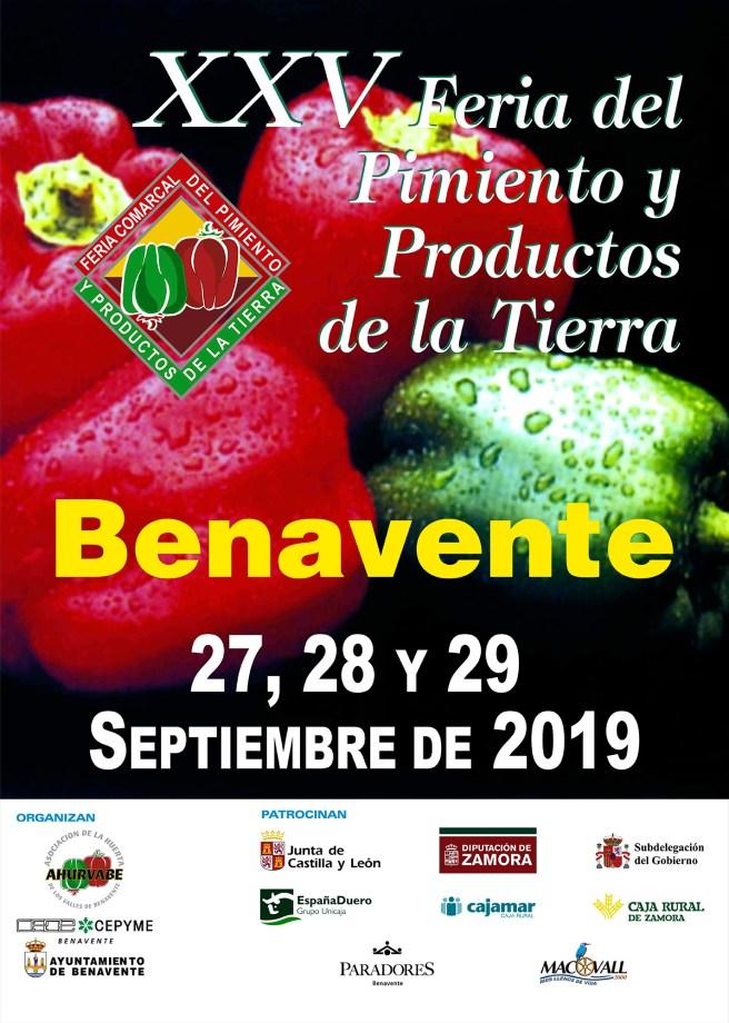 Cartel Feria del Pimiento Benavente