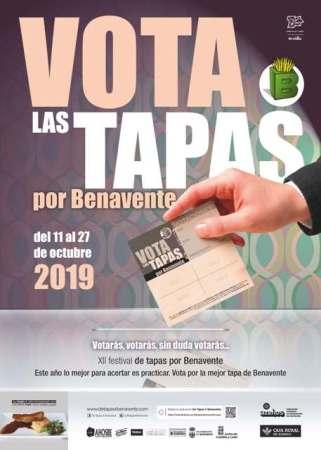 cartel de Tapas X Benavente 2019