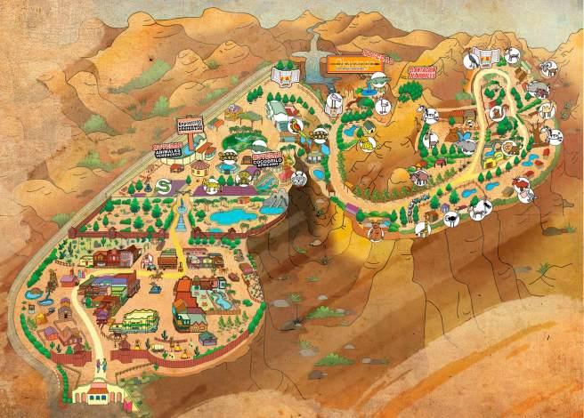 plano parque oasis hollywood almería