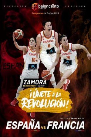 Las selecciones de baloncesto femenino de España y Francia se enfrentan en Zamora