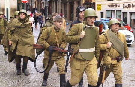 Recreación de la batalla de Stalingrado
