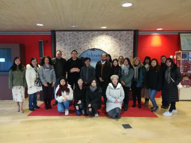Visita del Instituto Confucio a Sahagún