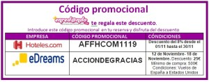 código promocional noviembre 2019 2