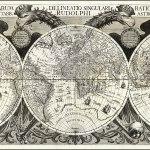Mapamundi hecho por Johannes Kepler.