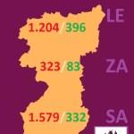 MAPA DATOS covid 19 REGION LEONESA COVID 19 A 4 de abril de 2020