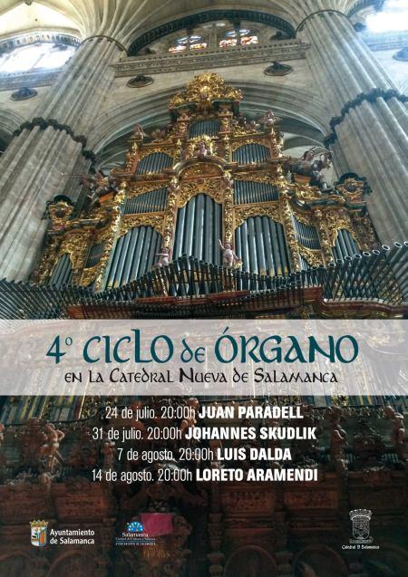 Salamanca organiza el cuarto Ciclo de Órgano en la Catedral Nueva