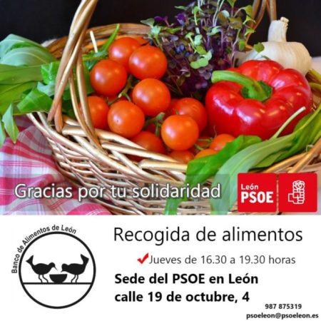 El PSOE organiza a favor del Banco de Alimentos de León