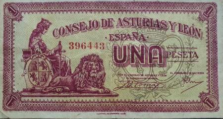 1 peseta consejo soberano de asturias y león