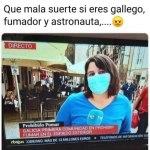 gallego fumador y astronauta