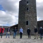inicio nuevas obras de protección de la torre del castillo de Balb
