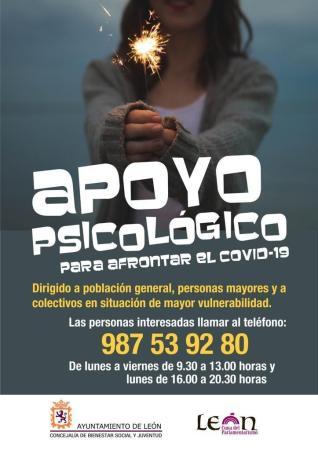 cartel apoyo psicológico