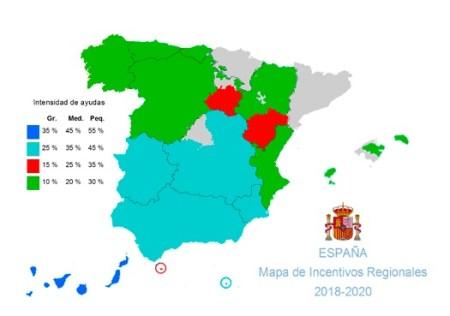 mapa de incentivos regionales 2018-2020