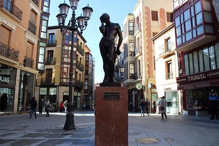 Escultura de Eduardo Barrón Adán después del pecad