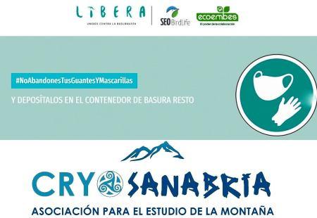 CRYOSANABRIA pide conciencia ambiental con las mascarillas