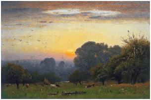 Imagen: George Inness. Mañana, hacia 1878. Museo Nacional Thyssen-Bornemisza, Madrid