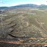 Vista aérea de las explotaciones mineras del Vallico La Escoba (Castrocontrigo).
