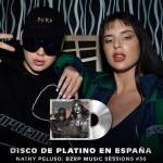 Bizarrap y Nathy Peluso Disco de Platino en España