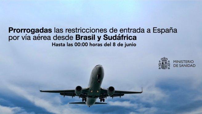restricciones entrada de viajeros en españa