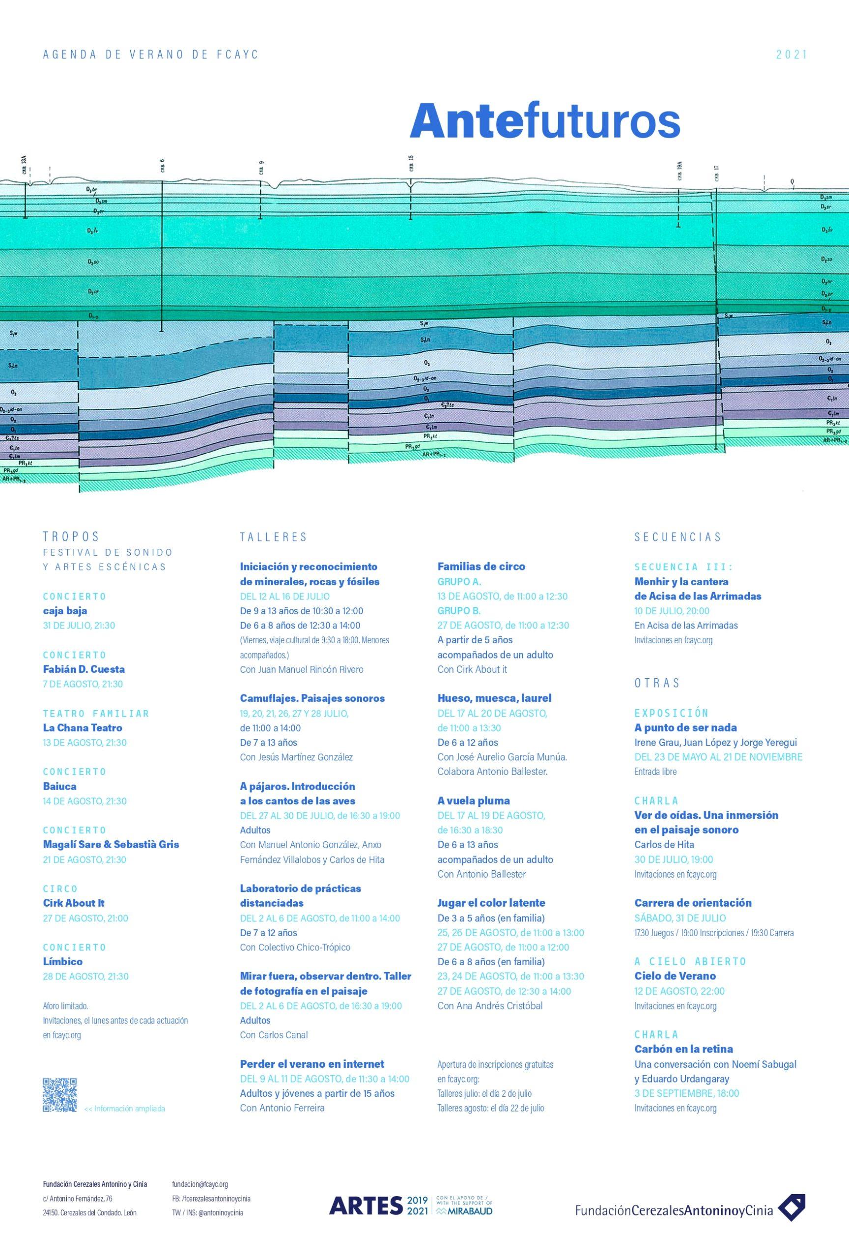 Antefuturos 2021 Agenda de verano de FCAYC