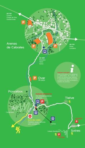Plan de Transporte a Cares por Asturias