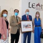 presentación del cupón de la ONCE con la imagen del Conde Luna